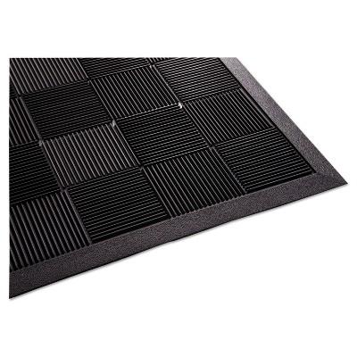 2'x3' Rectangle Outdoor Solid Floor Mat Black - Guardian