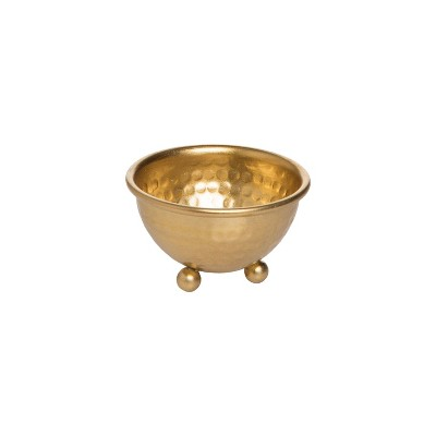 Gold Hammered Metal Decorative Jewelry Bowl - Foreside Home & Garden