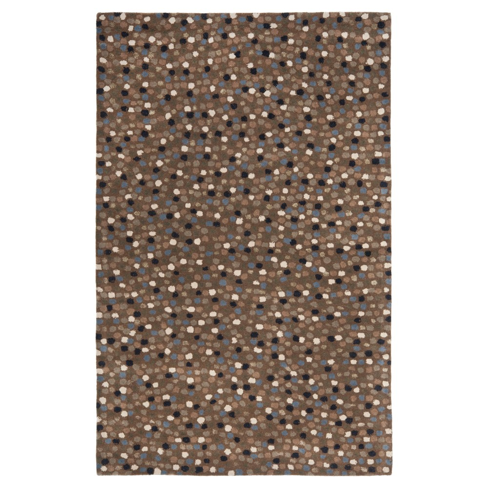 Dark Gray/Multi Abstract Knotted Area Rug - (5'X8') - Safavieh