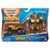 """Monster Jam Official Max-D 1:64 Scale Monster Truck and 5"""" Maximus Creatures Action Figure - Metallic Gold - image 2 of 4"""