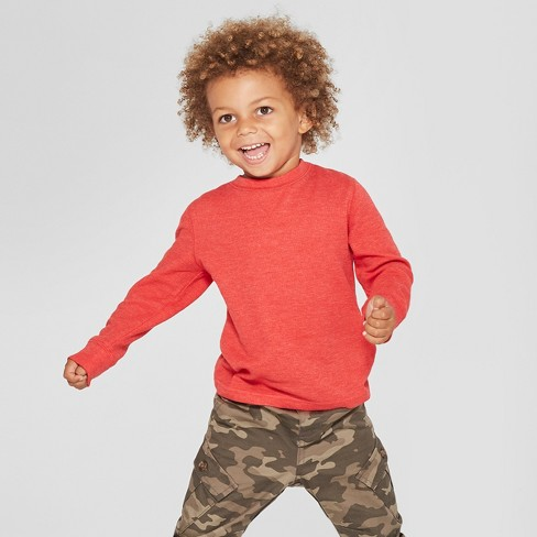 7b62c74992fce Toddler Boys  Thermal Long Sleeve T-Shirt - Cat   Jack™ Red   Target