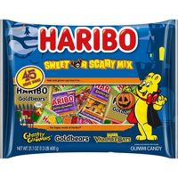 45 Count Haribo Halloween Sweet or Scary Mix 21.1oz