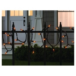 100ct Indoor/Outdoor Halloween Mini String Lights Orange - Hyde & EEK! Boutique™