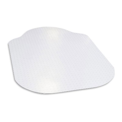 """2'x3'4"""" Rectangle With Lip Office Chair Mat White - Evolve"""