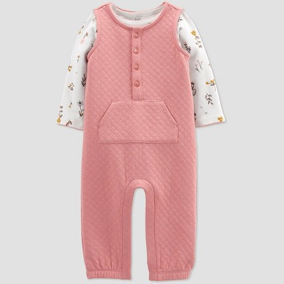Baby Girls' Quilted Top & Bottom Set - Just One You® made by carter's Pink 3M