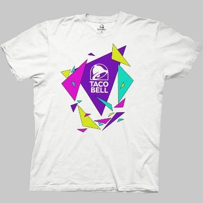 Men's Taco Bell Short Sleeve Graphic Crewneck T-Shirt - White