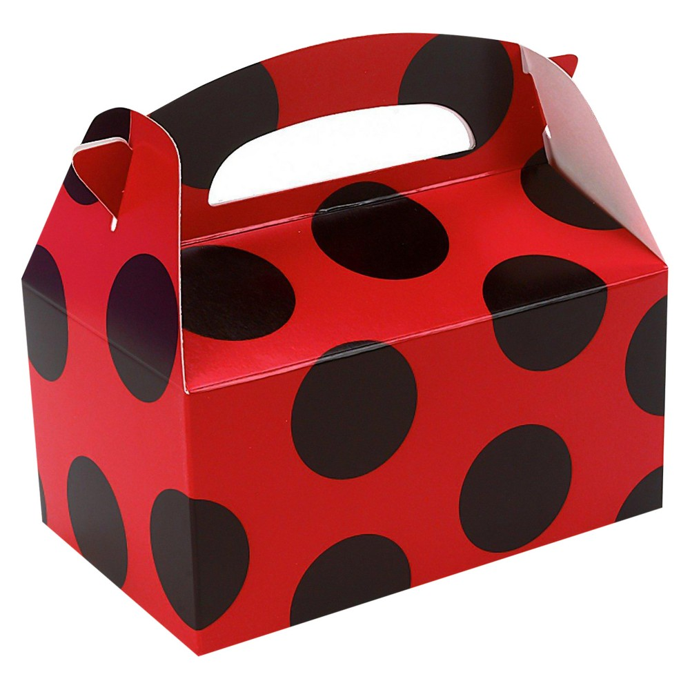 8 ct Red with Black Dots Favor Boxes