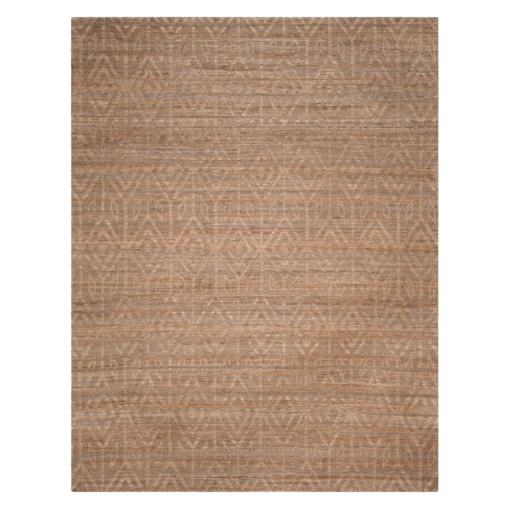 8'X10' Geometric Woven Area Rug Camel - Safavieh, Brown