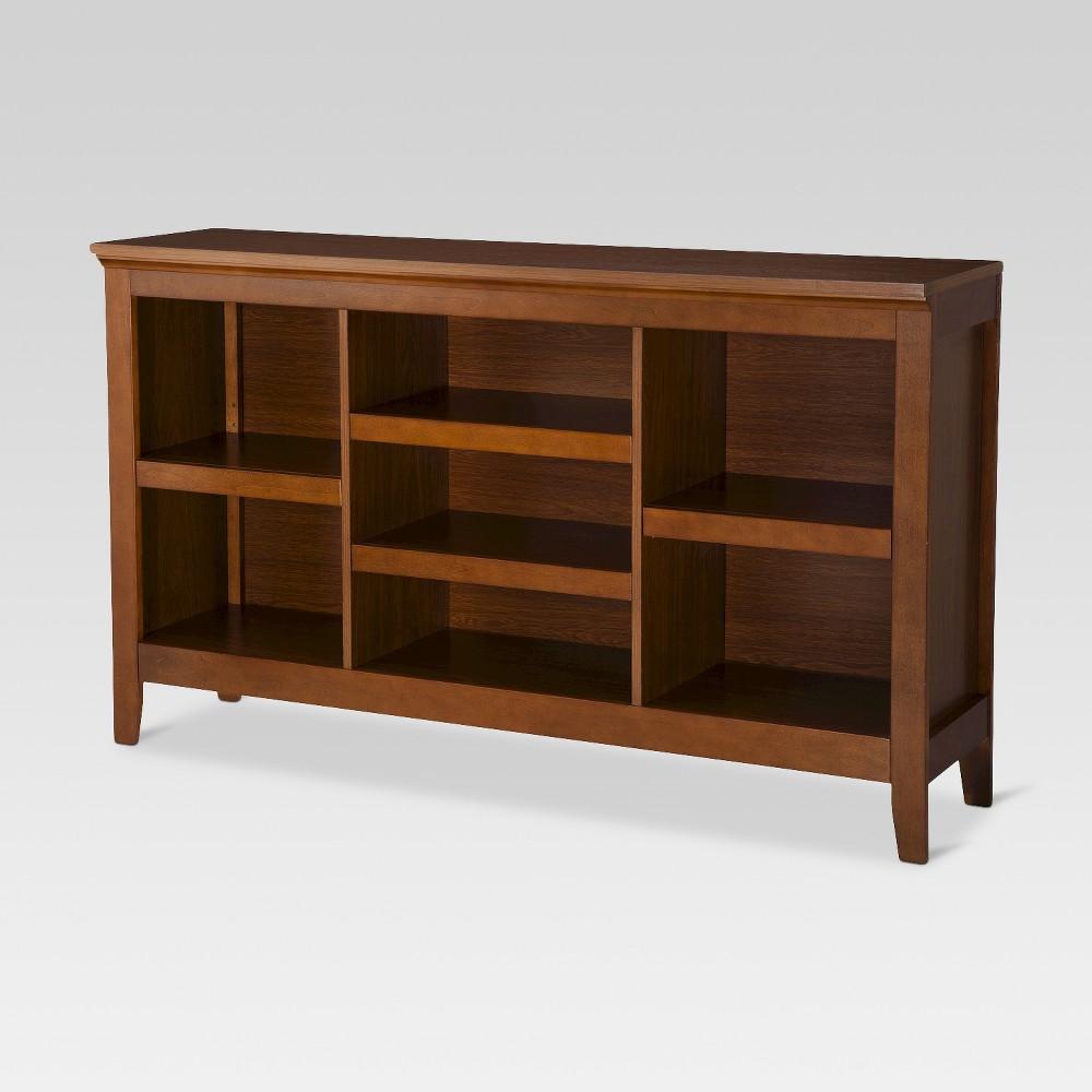Carson 32 Horizontal Bookcase with Adjustable Shelves - Midtone - Threshold, Midtone Cherry