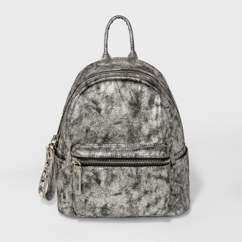 Moda Luxe Claudette Backpack - Silver Gray Opaque - image 1 of 4