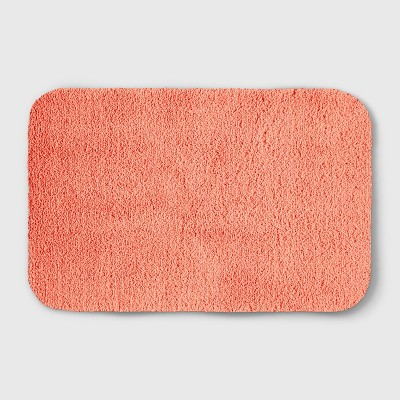 Perfectly Soft Solid Shag Bath Rug Georgia Peach - Opalhouse™
