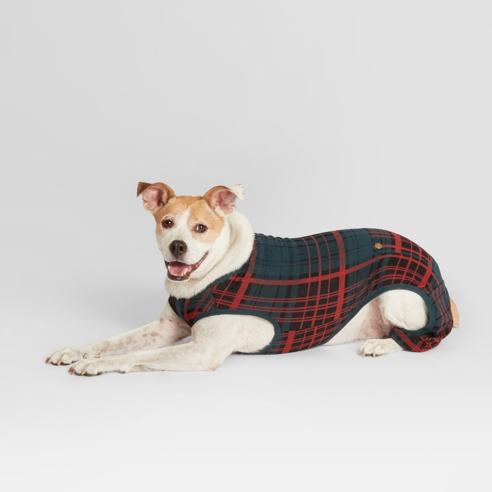 Pet Plaid Holiday Pajamas - Blue S - Hearth & Hand with Magnolia, Blue Red