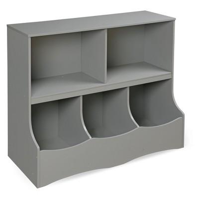 Badger Basket Multi - Bin Storage Cubby Gray