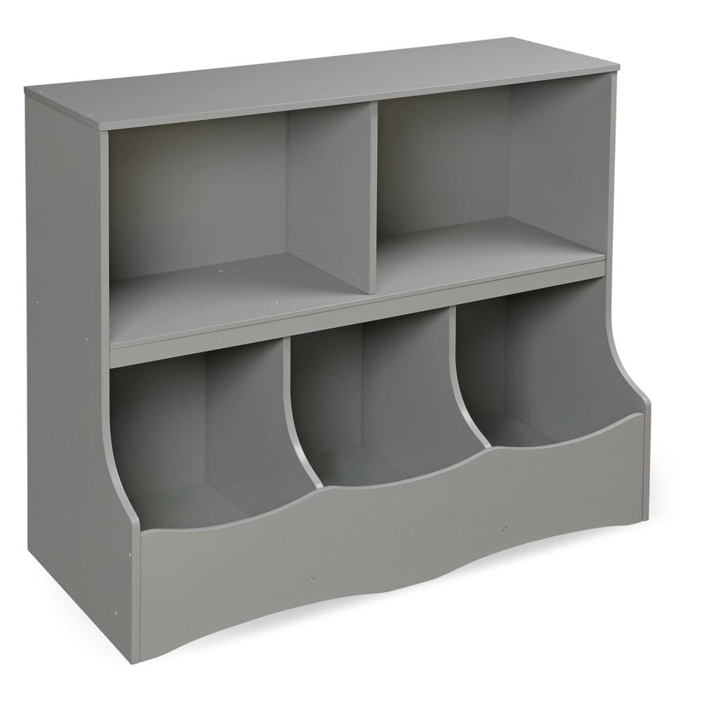 Image of Badger Basket Multi - Bin Storage Cubby Gray