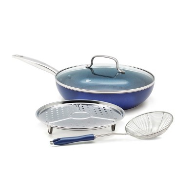 Blue Diamond 4pc Cookware Set Blue