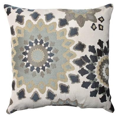 Blue Marais Floor Throw Pillow (18 x18 )- Pillow Perfect