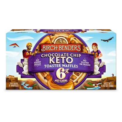 Birch Benders Keto Chocolate Chip Frozen Waffles - 6ct/5.92oz