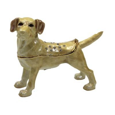 Deluxe YELLOW LABRADOR LAB Trinket-Box dog breed NEW Reg $20.00