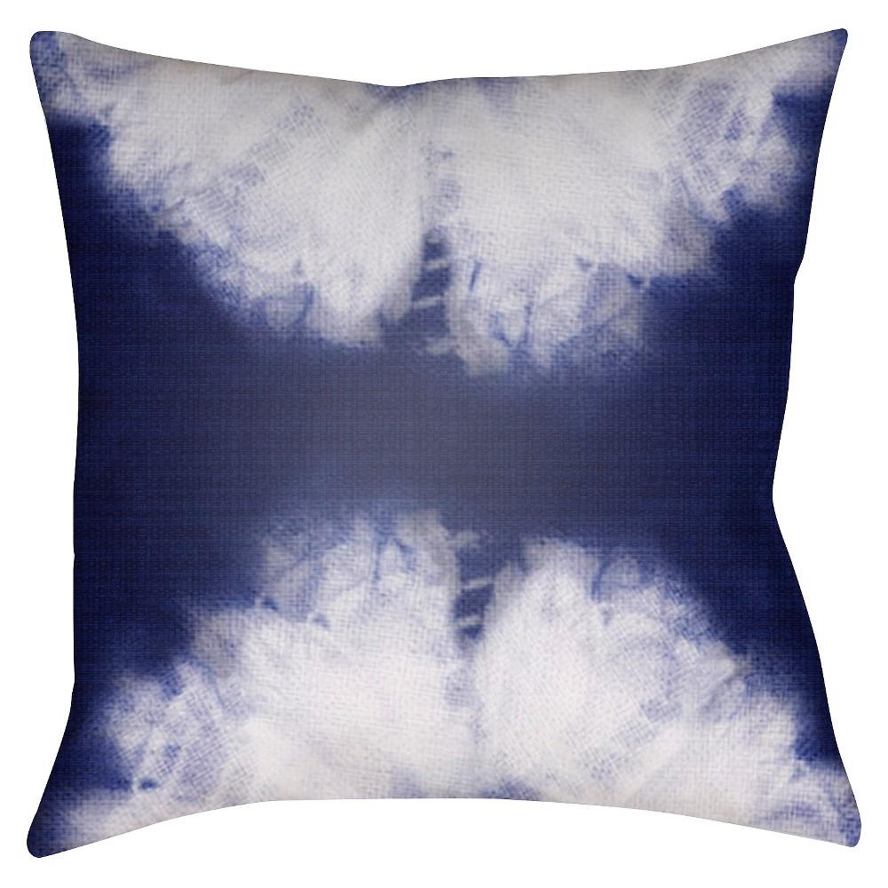 Indigo Tie Dye Throw Pillow 20