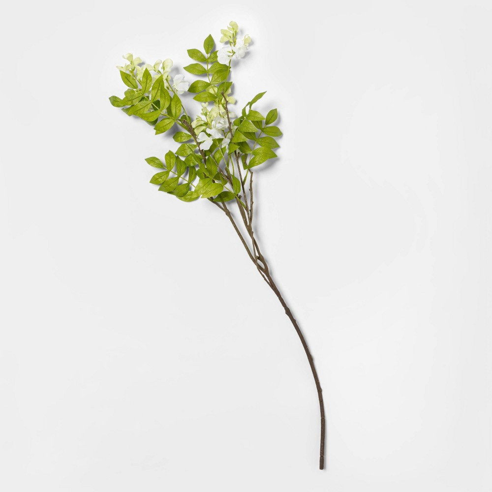 "Image of ""30"""" Artificial Wisteria Stem White/Green - Threshold"""
