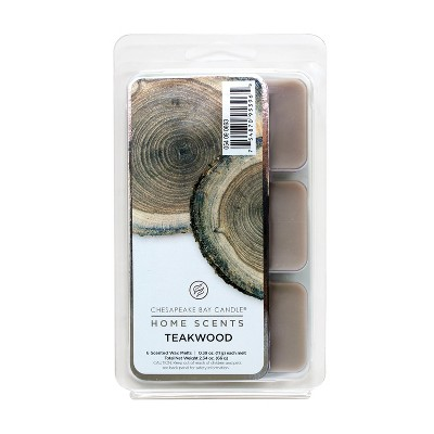 2.3oz 6pk Wax Melts Teakwood - Home Scents By Chesapeake Bay Candle