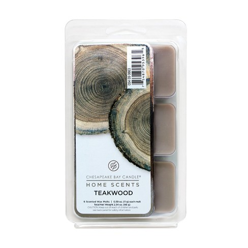 2.3oz 6pk Wax Melts Teakwood - Home Scents By Chesapeake Bay Candle - image 1 of 1