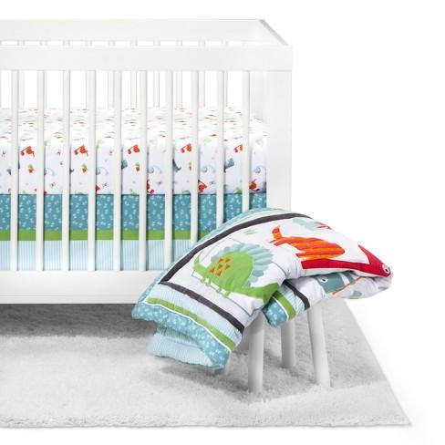 Trend Lab Crib Bedding Set 3pc, Dinosaur Nursery Crib Bedding