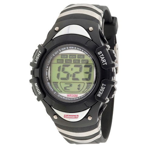 Kid's Coleman® Digital Strap Watch - Black/Silver - image 1 of 1