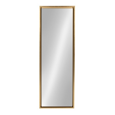 "16"" x 48"" Evans Framed Wall Panel Mirror Gold - Kate and Laurel"