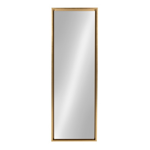 16 X 48 Evans Framed Wall Panel Mirror Gold Kate And Laurel Target