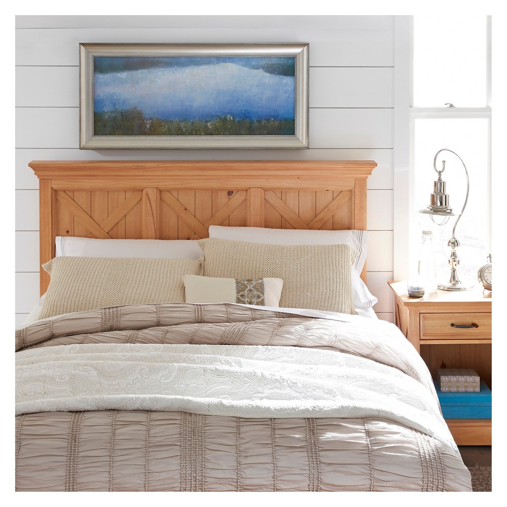 Country Lodge Queen/Full Headboard & Night Stand - Pine (Green) - Home Styles