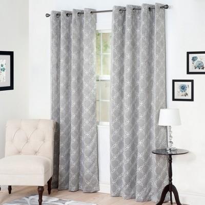 Yorkshire Home Myra Room Darkening Curtain Panel 84  Silver