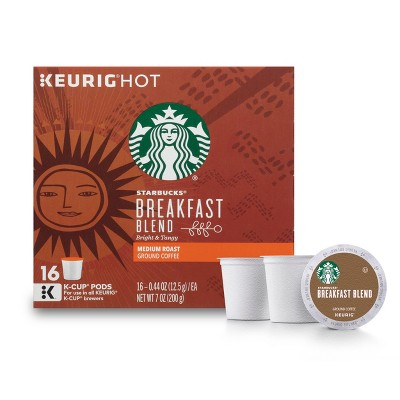Starbucks Coffee Breakfast Blend Medium Roast Coffee - Keurig K-Cup Pods - 16ct