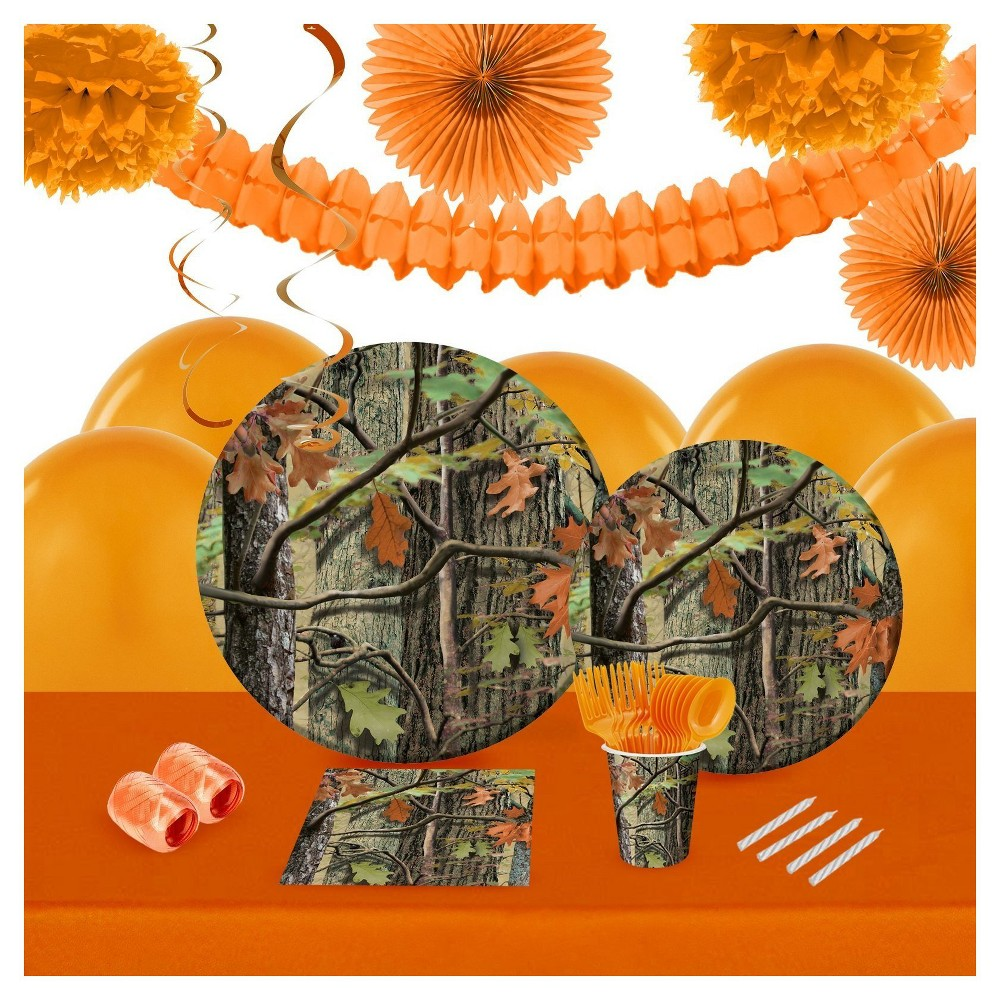 Hunting Camo 16 Guest Party Pk with Decoration Kit