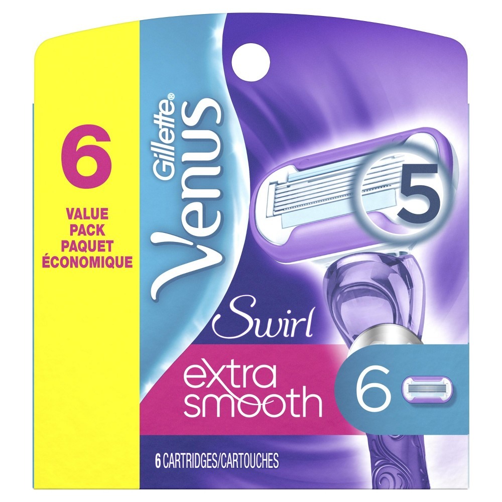 Venus Extra Smooth Swirl Women's Razor Blade Refills - 6ct