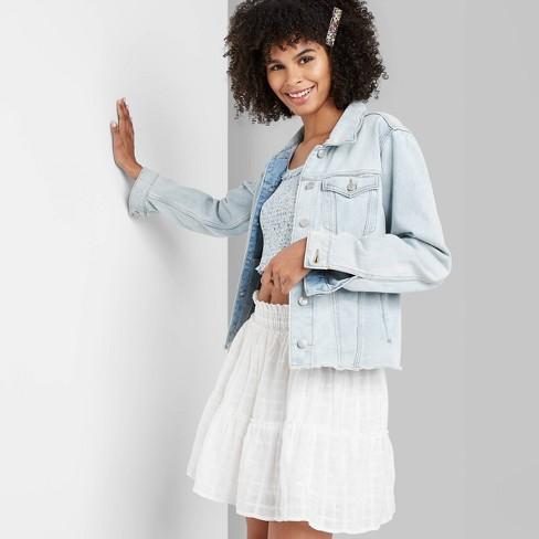 Women's High-Rise Smocked Mini Skirt - Wild Fable™ White - image 1 of 3