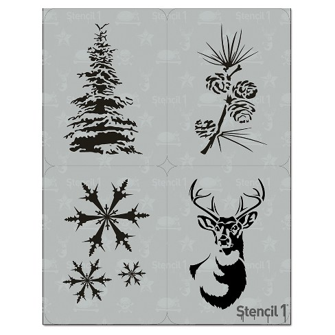 """Stencil1 Holiday Multipack 4ct - Stencil 8.5"""" x 11"""" - image 1 of 4"""