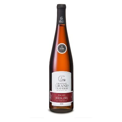 Chateau Grand Traverse Semi-Dry Riesling White Wine - 750ml Bottle