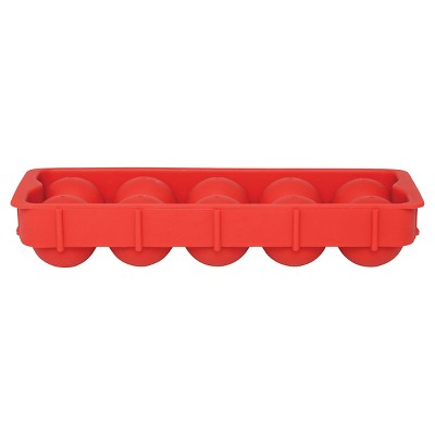 Harold Import Co.10-Cube Cannonball Ice Tray - Red