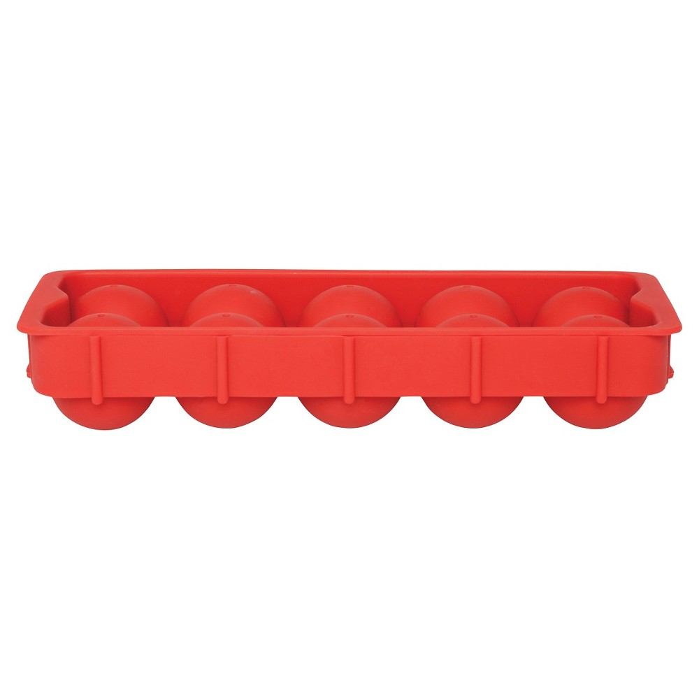 Image of Harold Import Co.10-Cube Cannonball Ice Tray - Red