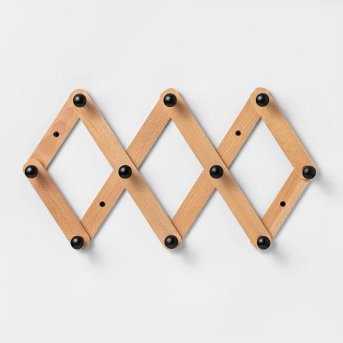 Accordion Hook Rail Wood - Threshold™ - image 1 of 2