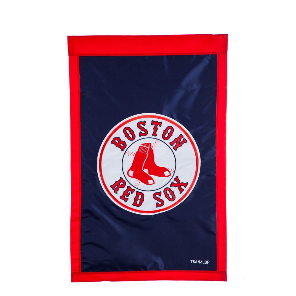 Boston Red Sox Applique House Flag