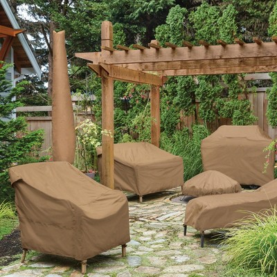 polyester club patio chair cover 34 h brown target rh target com