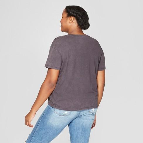 087ad90a Women's Plus Size Captain Marvel Logo Short Sleeve Graphic T-Shirt  (Juniors') -Black : Target