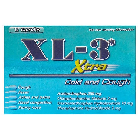 XL-3 Xtra Cold and Cough Softgels- 12ct - image 1 of 1