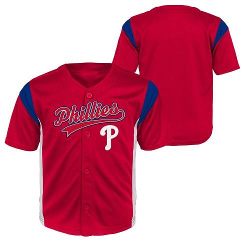 8ca1dd79a Philadelphia Phillies Baby Boys  Short Sleeve Button-Down Jersey - 18 M    Target