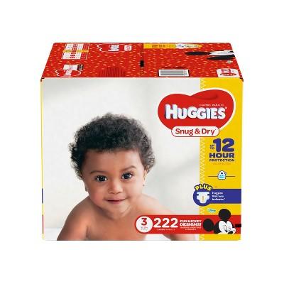 Huggies Snug & Dry Diapers - Size 3 (222ct)