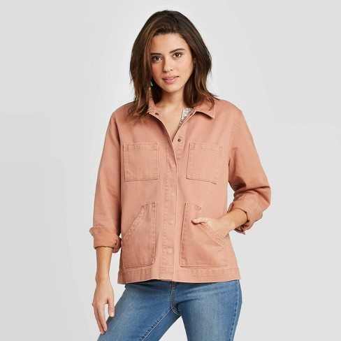 Women's Long Sleeve Chore Jacket - Universal Thread™ - image 1 of 3