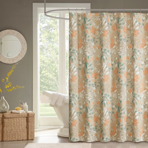 Shower Curtain Floral Allspice - image 1 of 2