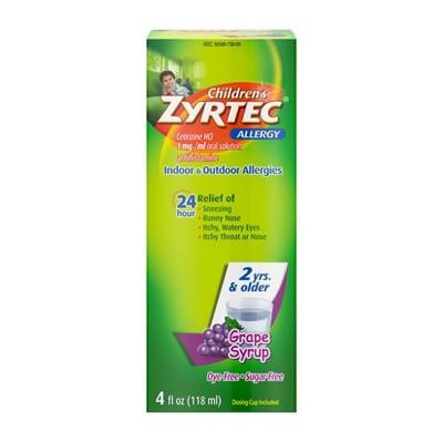 Children's Zyrtec 24 Hour Allergy Relief Syrup - Grape - Cetirizine
